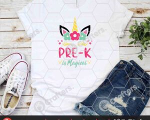 452 Pre k is Magical SVG Prek Unicorn SVG For Cricut