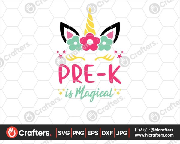 452 Pre k is Magical SVG Prek Unicorn SVG PNG