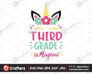 456 3rd Grade is Magical SVG Third Grade Unicorn SVG PNG
