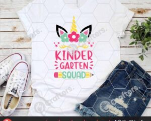 462 kindergarten Squad SVG kindergarten Unicorn SVG For Cricut