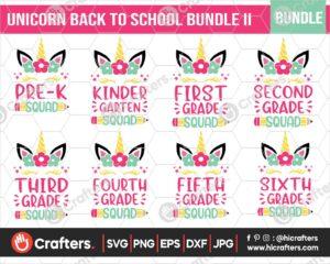 469 Unicorn Squad Back to School SVG Bundle