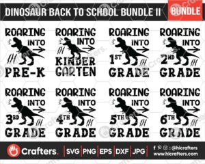 487 T Rex Back to School SVG Bundle