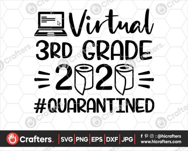501 Virtual 3rd Grade SVG Virtual Learning SVG PNG