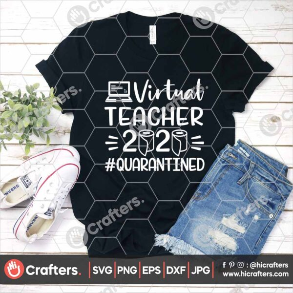 505 Virtual Teacher SVG Virtual Learning SVG For Cricut