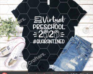506 Virtual Preschool SVG Virtual Learning SVG For Cricut