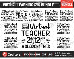 507 Virtual Learning SVG Bundle For Cricut
