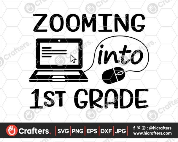 511 Zooming into 1st Grade SVG Distance Learning SVG PNG