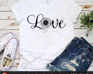 521 Love with Sunflower SVG