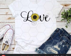 522 Love Sunflower SVG
