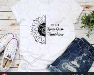 524 Half Sunflower SVG