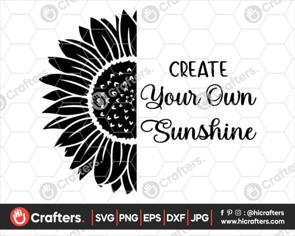 533 Sunflower Silhouette SVG PNG