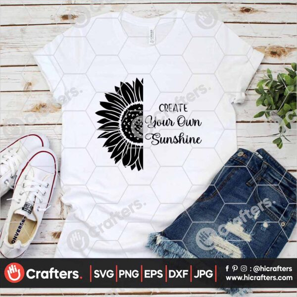 533 Sunflower Silhouette SVG PNG For Cricut and Silhouette