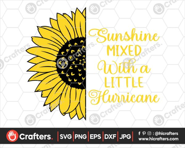 536 Sunflower Saying SVG Split Sunflower SVG For Cricut