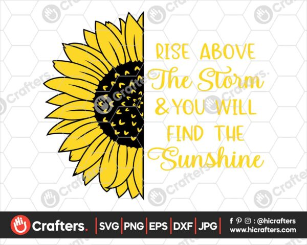 537 Sunflower Saying SVG Sunflower Quote SVG File