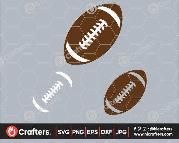 543 Layered Football SVG Football Laces SVG PNG