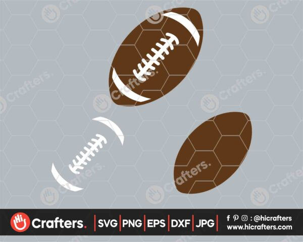 544 Football Laces SVG Layered Football SVG PNG