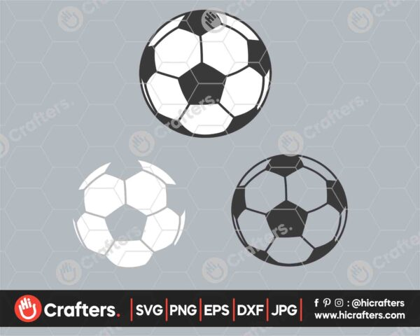 545 Layered Soccer Ball SVG Soccer SVG PNG
