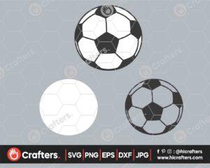 546 Soccer SVG PNG Layered Soccer Ball SVG