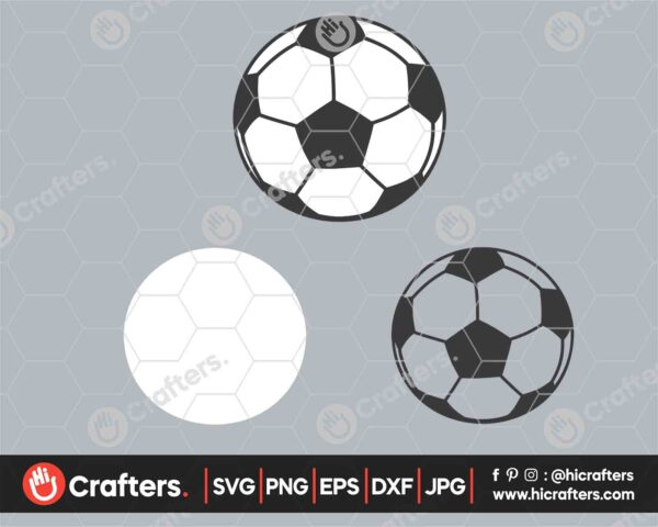 546 Soccer SVG PNG Layered Soccer Ball SVG
