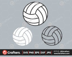 547 Volleyball SVG Layered Volleyball SVG PNG For Cricut