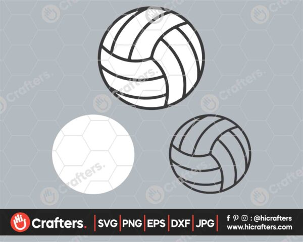 548 Layered Volleyball SVG Volleyball SVG PNG