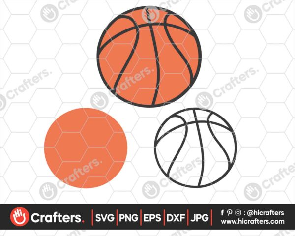 550 Layered Basketball SVG Basketball SVG PNG For Cricut