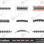 551 Football Laces SVG Bundle Football SVG PNG