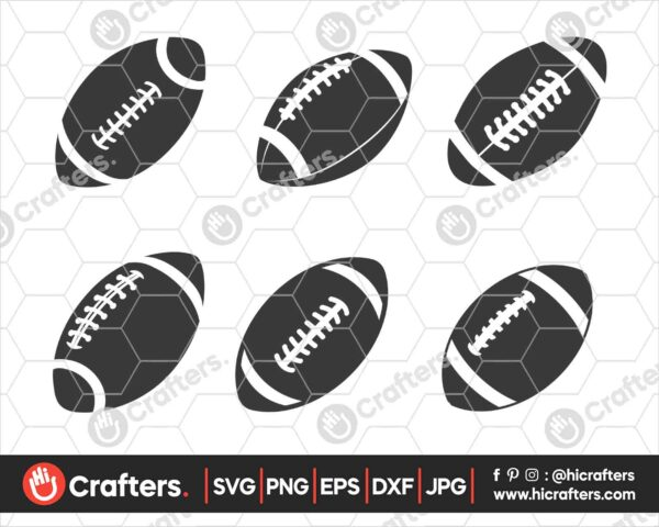 552 Football Ball SVG Bundle Football SVG PNG